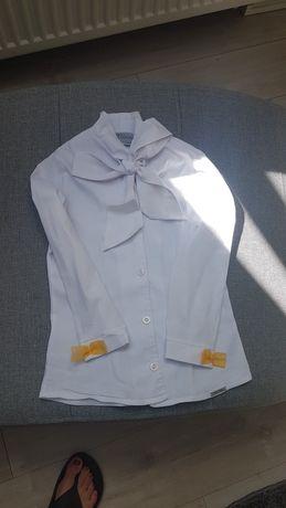 Biala koszula dla dziewczynki  r. 116