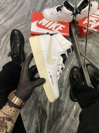 Женские кроссовки Nike Air Force 1 High Utility White Light Cream