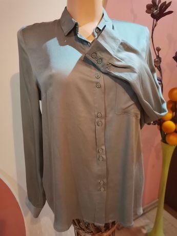 Bluzka koszulowa damska koszula oliwkowa zieleń L,XL nowa