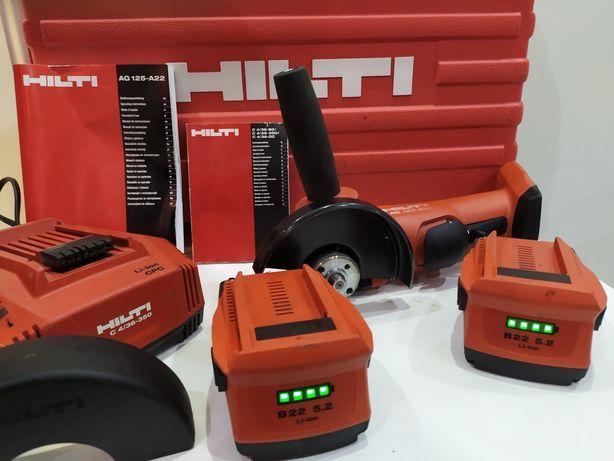 Hilti AG 125-A22 szlifierka kątowa akumulatorowa 2x 5.2ah polecam