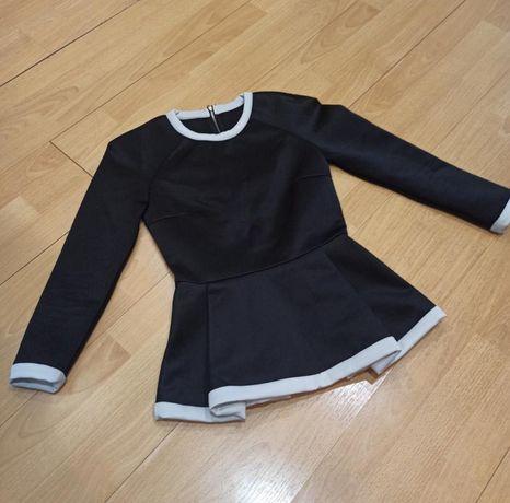 Черная блузка для офиса, школы