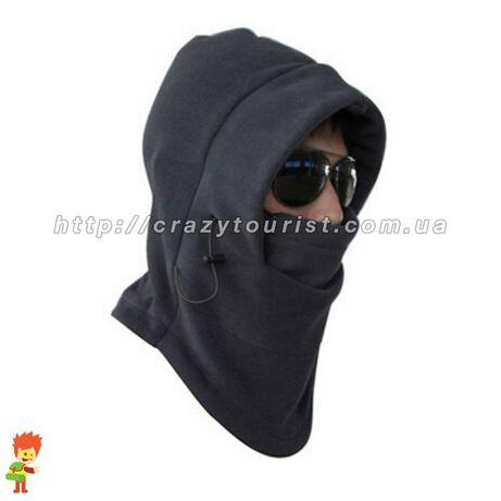 Теплая зимняя флисовая балаклава маска шарф шапка