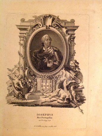Gravura de D. José I rei de Portugal