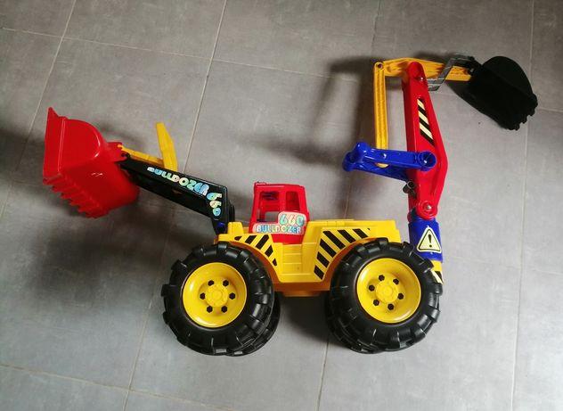Duży buldozer, koparko ładowarka dla dzieci