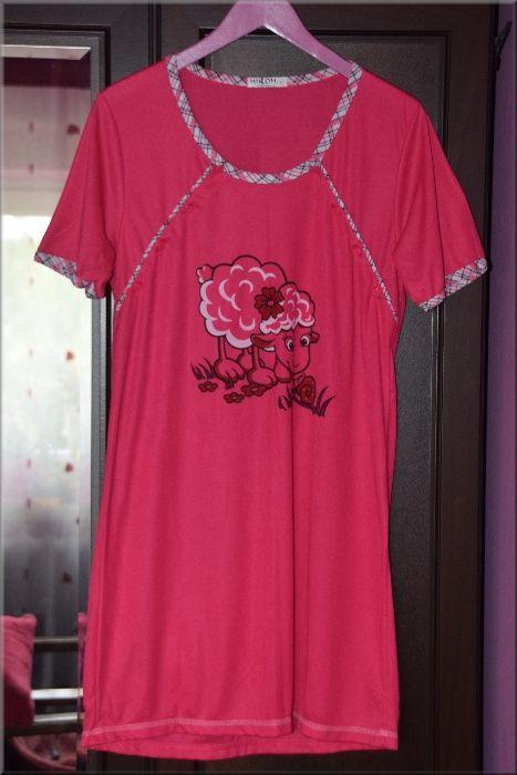 Koszula nocna rozpinana do karmienia, S , 36 , Różowa, owieczka Łańcut - image 1