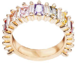 YES Bloom - pierścionek srebrny pokryty złotem z cyrkoniami |Lombard