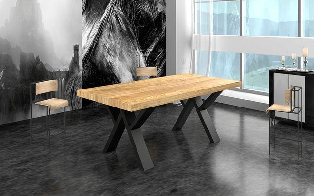 Stół dębowy Loftowy SCORPIO 200 x 100 cm STYL LOFT INDUSTRIALNY
