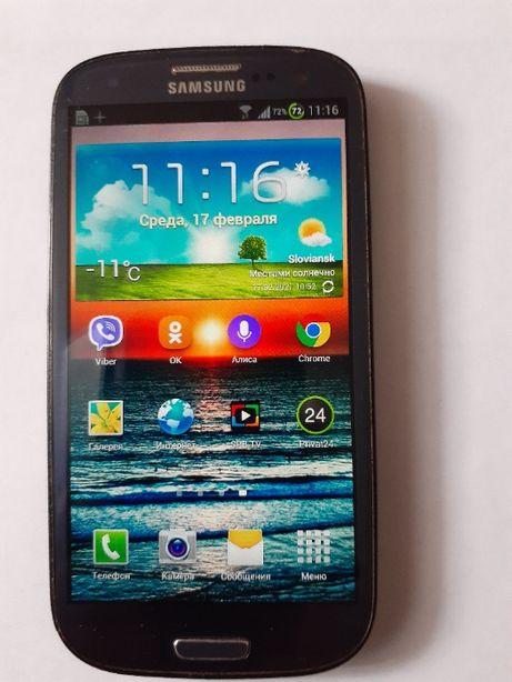Смартфон Samsung Galaxy S3 GT-i9300 Оригинал+новый чехол с нат.кожи