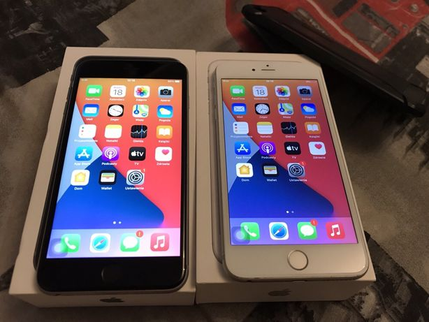 Apple Iphone 6s Plus szary i srebrny 16 i 64 gb kompletne sprawne bdb