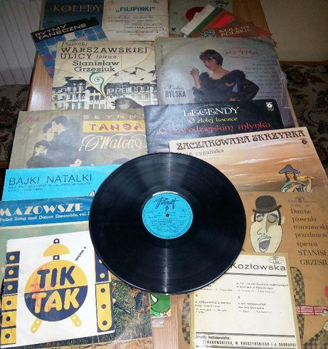 Płyty gramofonowe winylowe analogowe stare nagrania oryginał kolekcja
