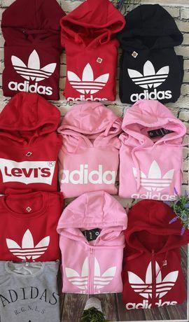 Bluzy damskie z logo Adidas Levi's Nike kolory S-XL!!!