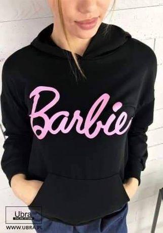 Bluzy ocieplane kangurki damskie Barbie