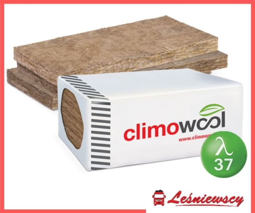 Płyta z mineralnej wełny szklanej akustyczna CLIMOWOOL 0,037 5cm