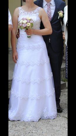 Suknia ślubna koronka r.38 biała