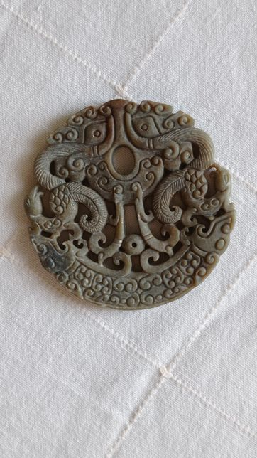 Pendente Jadeite Fénix Simbologia chinesa