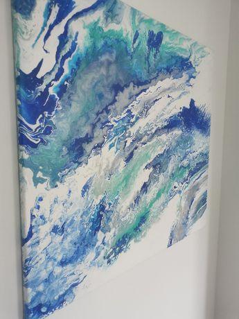obraz nowoczesny, abstrakcja, duży obraz 100x110, farby akrylowe