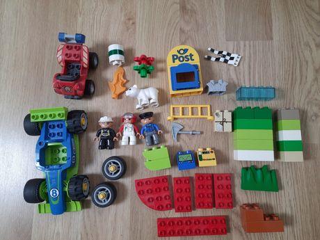 Klocki LEGO DUPLO różne rodzaje zwierzęta ludziki samochody