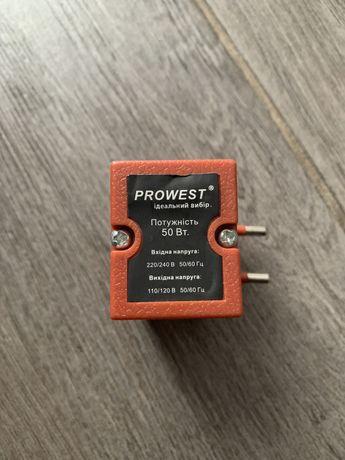 Преобразователь напряжения Prowest 220v в 110v, 50 Вт,