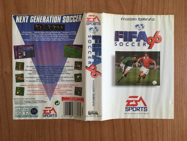 Capas para jogos Mega Drive FIFA 96 e NBA 95