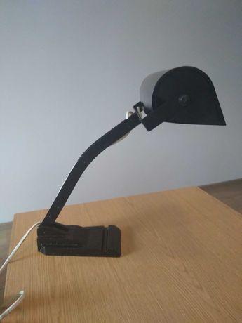 Stara lampa bankierska biurkowa