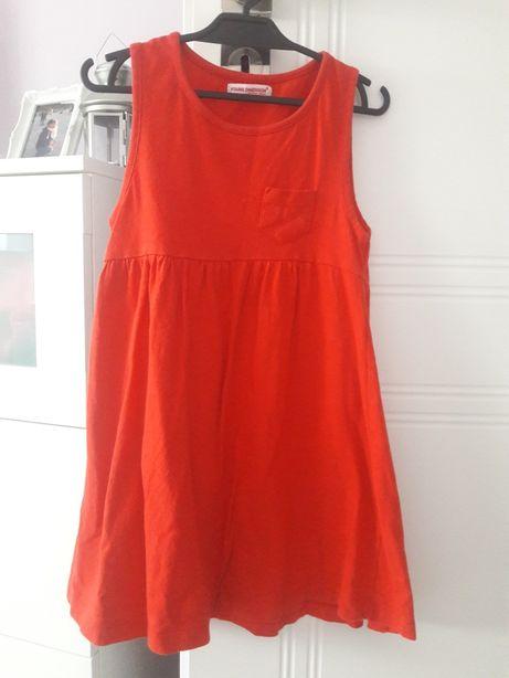 Czerwona sukienka 116/122
