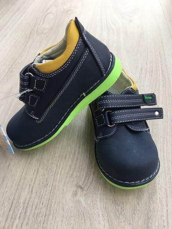 Новые кожаные туфли на мальчика 24р. Шалунишка