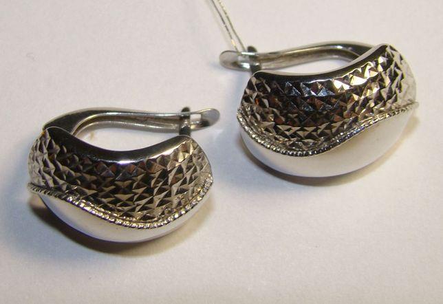 TANIO ! kolczyki srebro rodowane pr.925 -Firma Szafir- wzór S67