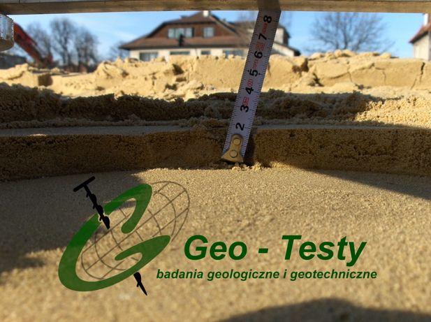 Geolog. Badania gruntu pod dom jednorodzinny, przydomową oczyszczalnię