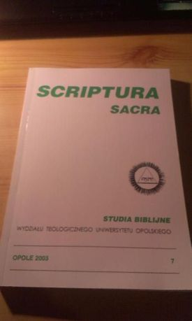 Scriptura Sacra 7 Studia Biblijne