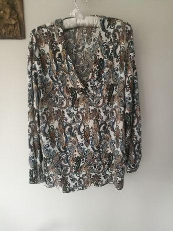 Bluzka we wzory, Esprit, rozmiar 42 / 44, długi rękaw