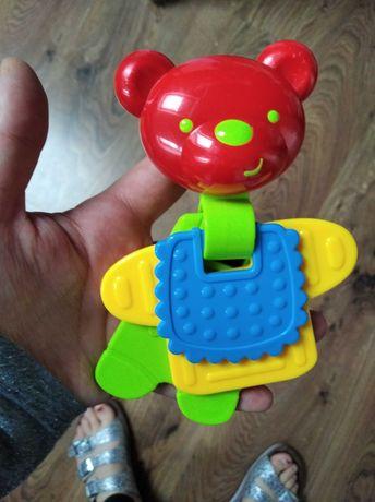 Miś zabawka sensoryka dla niemowlaka niemowląt
