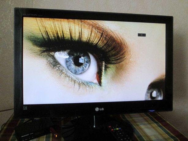 22 дюймовый широкоформатник LG/ LED/ Full HD/ 5М:1/VGA+DVI/идеал.сост.