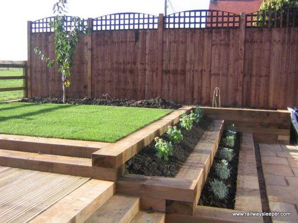 Podkłady palisady do ogrodu, nie kolejowe, nowe