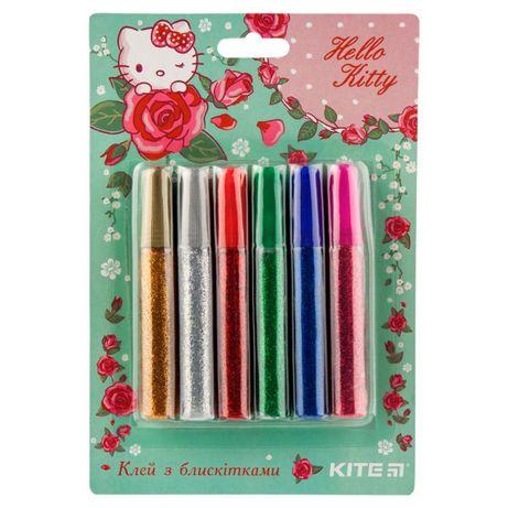 Клей с блестками Kite, 6 цветов
