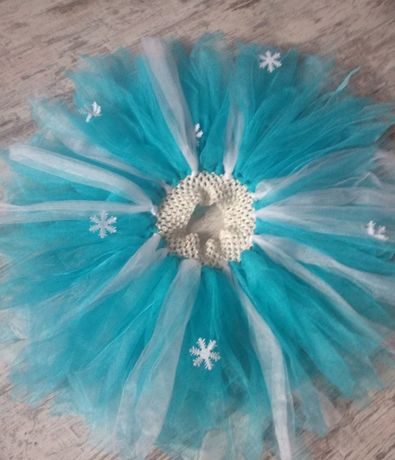 Новогодняя юбка пачка снежинка