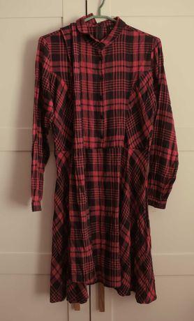 Mohito sukienka w kratę 40 L