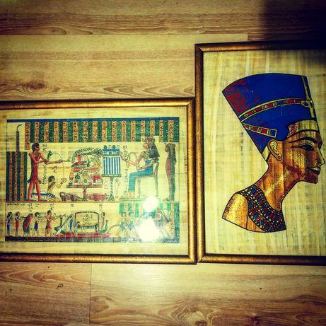 2 за ціною 1 Картини папирус Семья и Нефертити