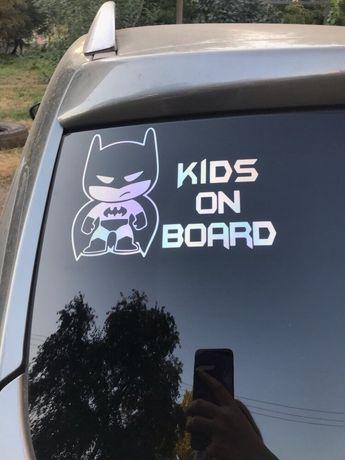 Наклейка на автомобиль Batman Бетмен Baby on board (ребенок в машине)