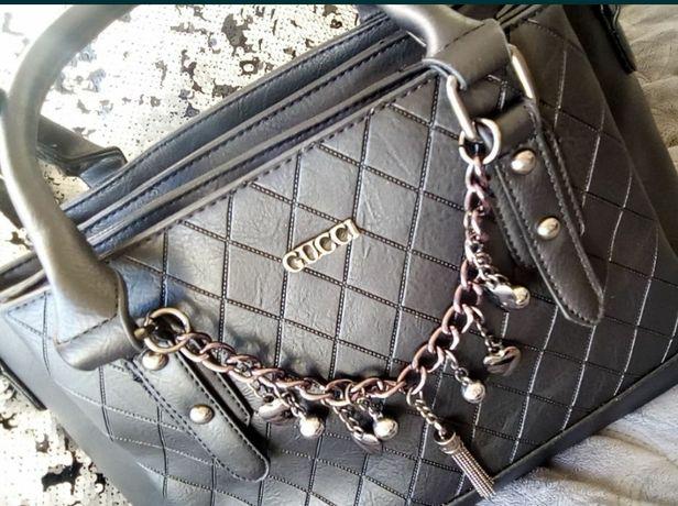 Mały shopper Gucci czarny torebka