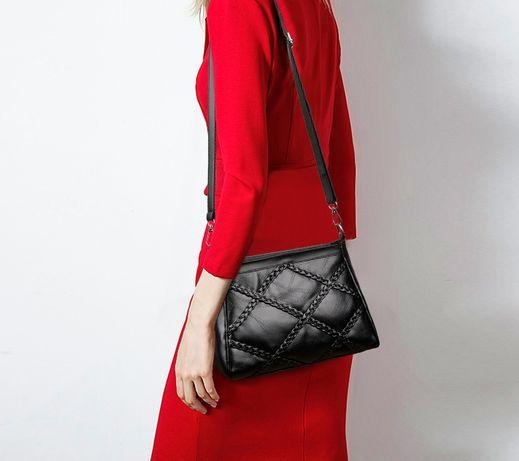 Черная женская сумка клатч мини сумочка эко кожа модная стильная новая