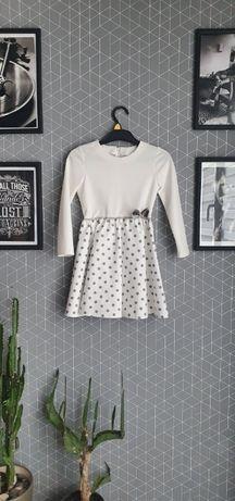 Sukienka dla dziewczynki ecru, stan bardzo dobry, 116cm