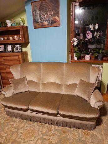 Tapczan, sofa -trójka, zieleń stonowana.