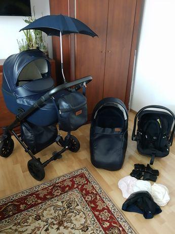 Wózek Anex Cross 2w1 granat+fotelik Kiddy Evolution Pro2