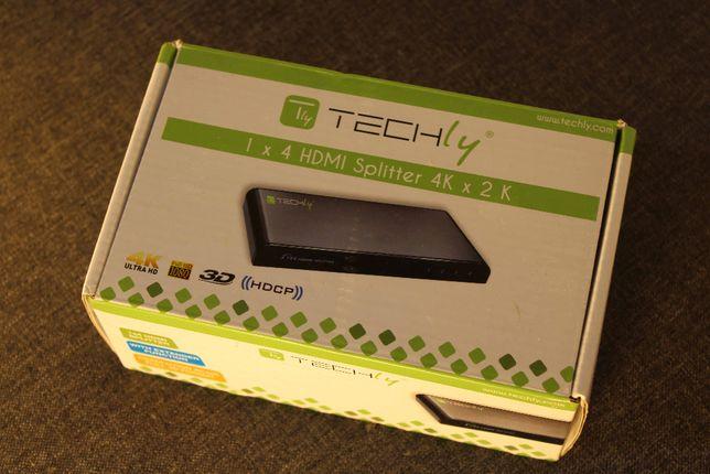 Techly Splitter HDMI 1 x 4 UHD