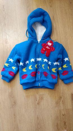 Теплая кофта, меховушка, куртка детская