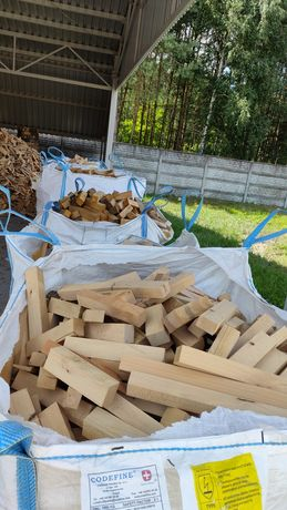 Drewno Kominkowe Opałowe Dąb Buk Suche Po Suszarni Rozpałka