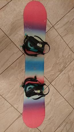 Deska snowboardowa + wiązania - K2 Eco Pop Womens - Unicorn - Okazja