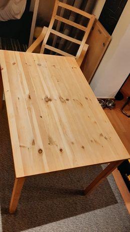 Mesa 4 lugares Ikea com tampo de vidro sob medida