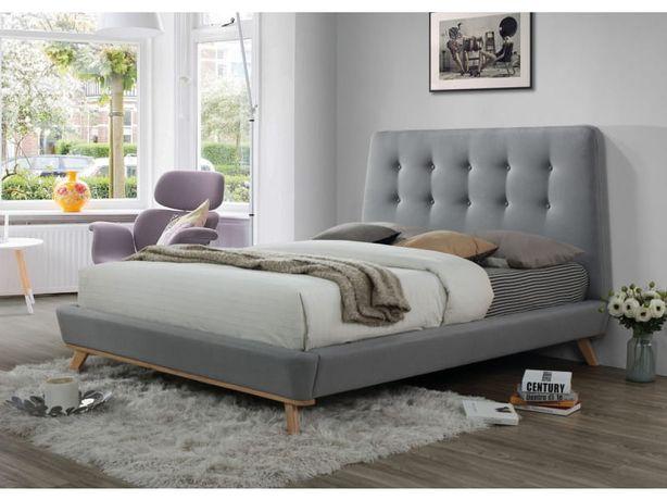Łóżko 160 cm DONA szare w niższej cenie NOWE
