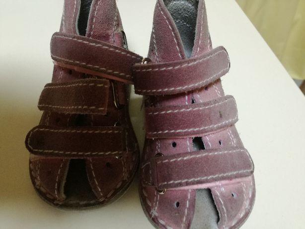 Sandałki skórzane dla dziewczynki r. 20